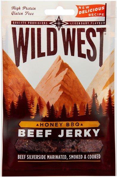 Сушено телешко Медено барбекю Wild West Beef Jerky Honey BBQ 25гр