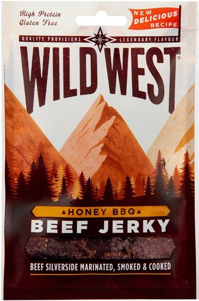 Сушено телешко Медено барбекю Wild West Beef Jerky Honey BBQ 35гр