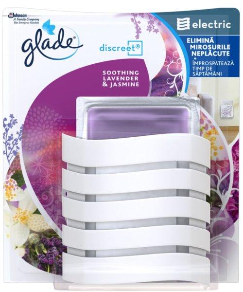 Ароматизатор Glade Descreet комплект за контакт Lavender & jasmine