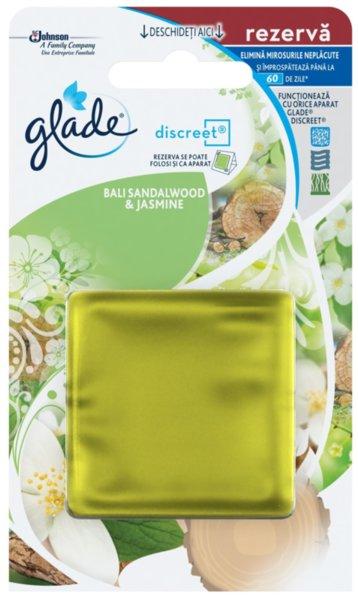 Пълнител за ароматизатор Glade Discreet Sandalwood & Jasmine