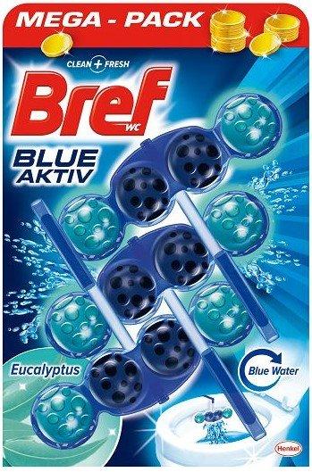 Ароматизатор за тоалетна чиния Bref Blue Aktiv Eucalyptus 3x50гр