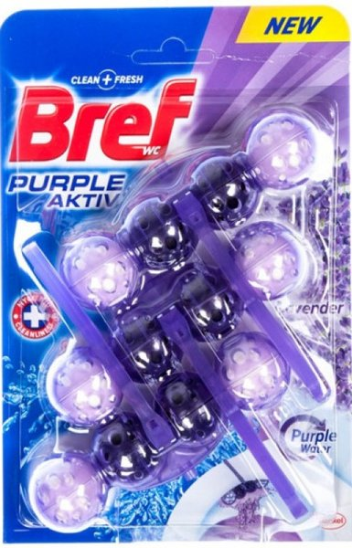 Ароматизатор за тоалетна чиния Bref Blue Aktiv Lavender 3x50гр
