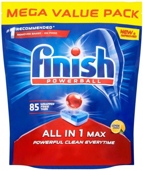 85бр Таблетки за съдомиялна Finish All in 1 MAX Powerball