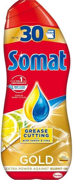 Гел за съдомиялна машина Somat Gold лимон и лайм, 30 измивания 540 мл
