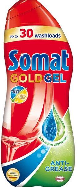 Гел за съдомиялна машина Somat Gold срещу обилни мазнини, 30 измивания 540 мл