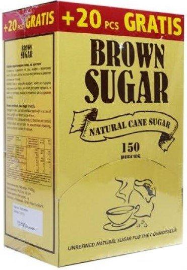 Кафява захар Пакетчета Brown Sugar 150х4гр