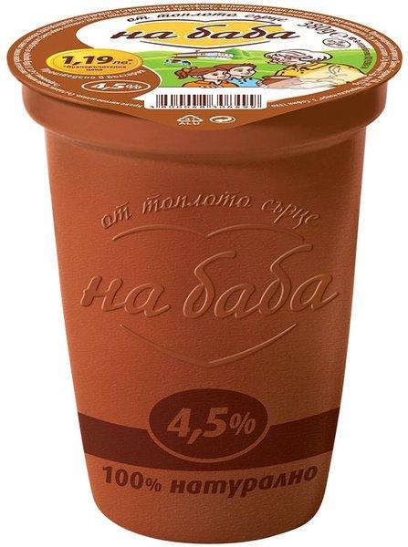 Кисело Мляко На Баба 4,5% 380 г