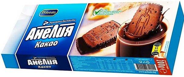 Бисквити с шоколад и какао Анелия 200гр