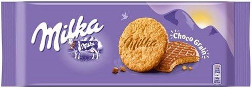 Пълнозърнести бисквити Milka Choco Grain 126гр