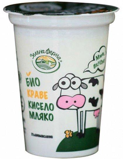 Био кисело мляко Зелена ферма Slim 2% 370гр