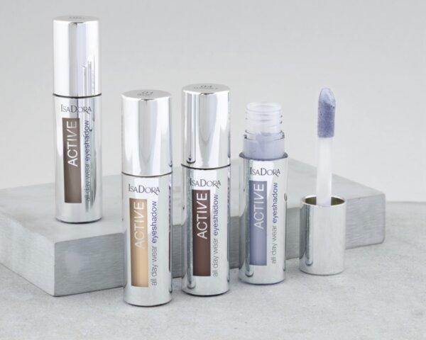 Водоустойчиви кремоомбразни сенки за очи IsaDora Active All Day Wear Eyeshadow