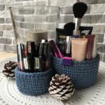 Комплект цветни ръчно плетени кошници