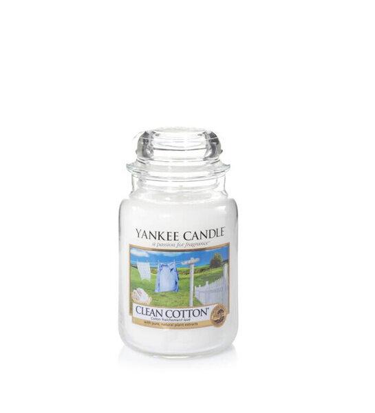 свещ голям буркан Yankee Candle Clean Cotton
