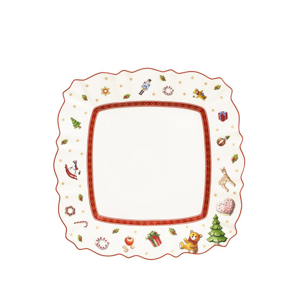 коледна квадратна чиния Villeroy & Boch, Toy's Delight Square salad