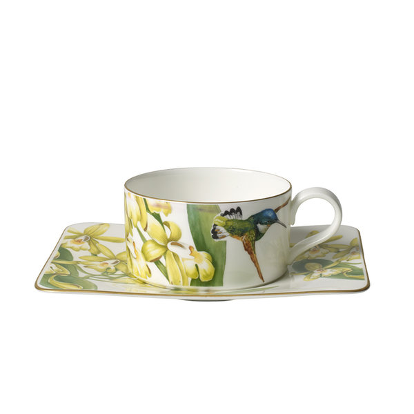 чаша с чинийка за чай Villeroy & Boch, Amazonia Tea