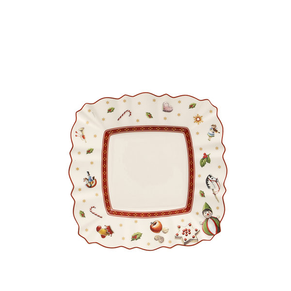 коледна чиния хляб и масло Villeroy & Boch, Toy's Delight Square bread & butter