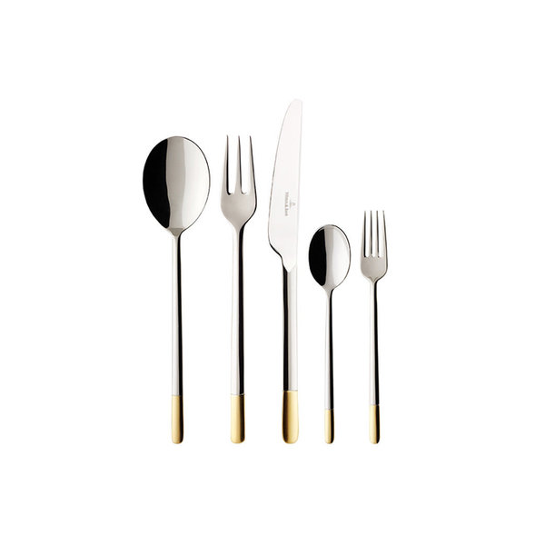 прибори за хранене 30 части Villeroy & Boch, Ella partially gold plated set 30
