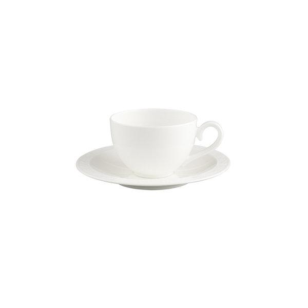 чаша и чинийка за кафе Villeroy & Boch, White Pearl