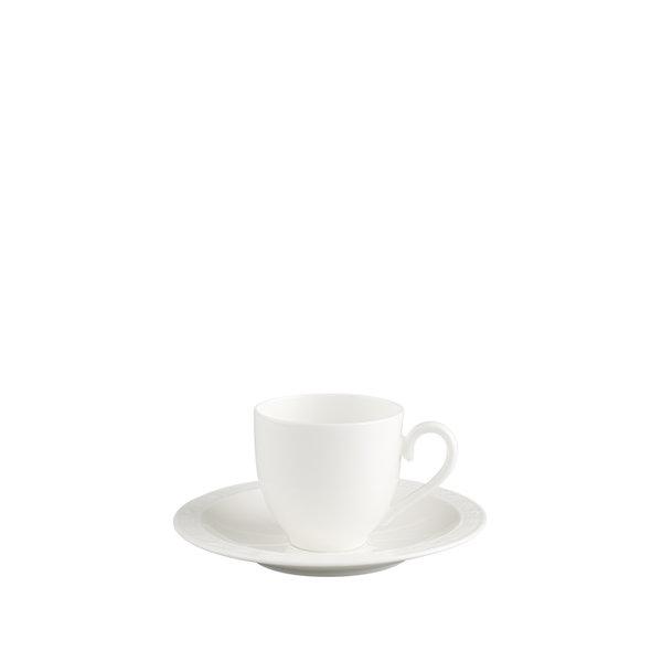 чаша с чинийка за еспресо Villeroy & Boch, White Pearl Espresso