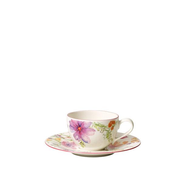 чаша и чинийка за кафе Villeroy & Boch, Mariefleur Gris Basic