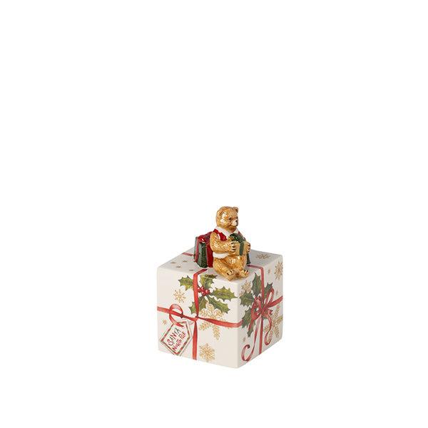декоративна коледна фигура Villeroy & Boch, Nostalgic Melody box with Teddy