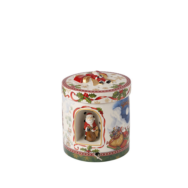 голяма кръгла кутия Villeroy & Boch, Christmas Toys Santa´s flight