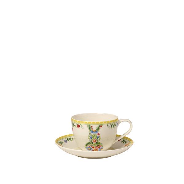 чаша и чинийка за кафе Villeroy & Boch, Spring Awakening Coffee Bunny