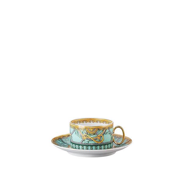 чаша и чинийка за чай Versace Scala Palazzo Verde Cup & saucer