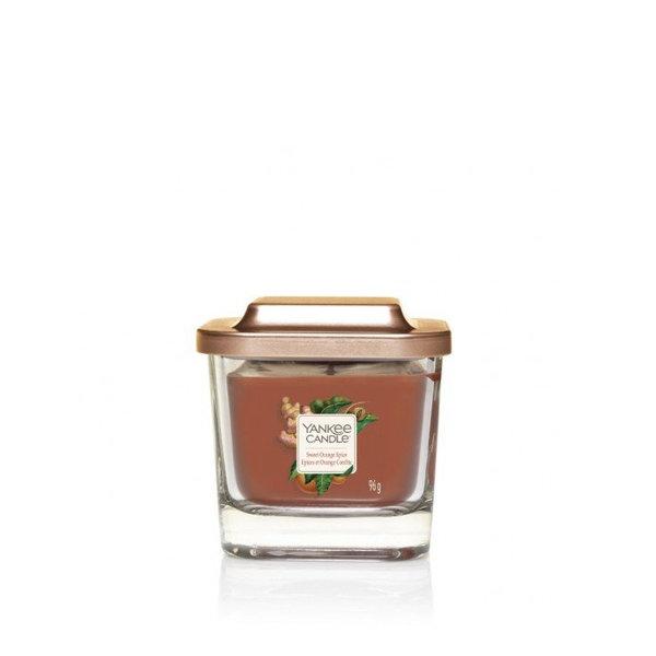 ароматна свещ малък буркан Yankee Candle Elevation Sweet Orange Spice
