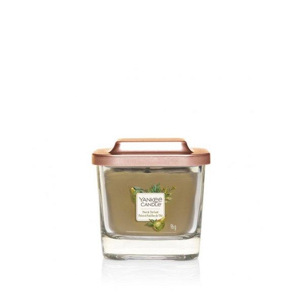 ароматна свещ малък буркан Yankee Candle Elevation Pear & Tea Leaf