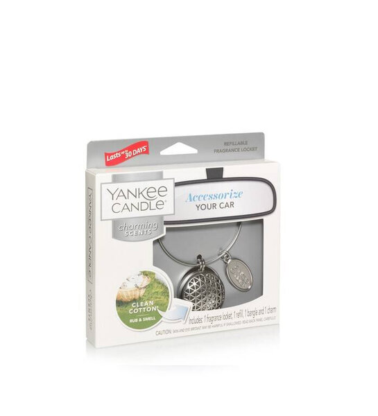 ароматизатор за кола Yankee Candle Clean Cotton® & Geometric Refillable Locket