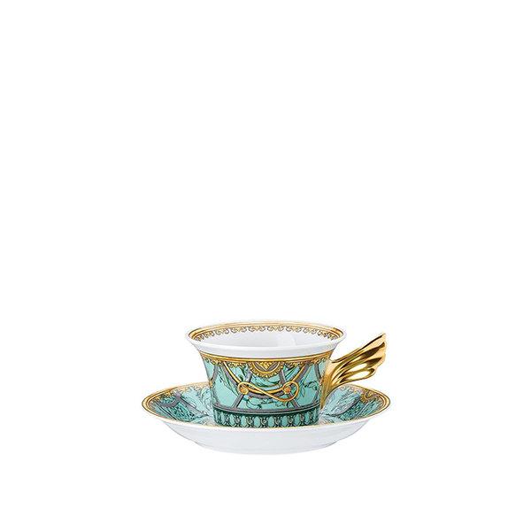 чаша и чинийка за чай Versace Scala Palazzo Verde Tea cup & saucer