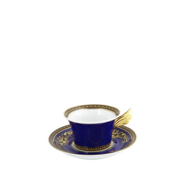 чаша и чинийка за чай Versace Medusa Blue Tea cup & saucer 25 years