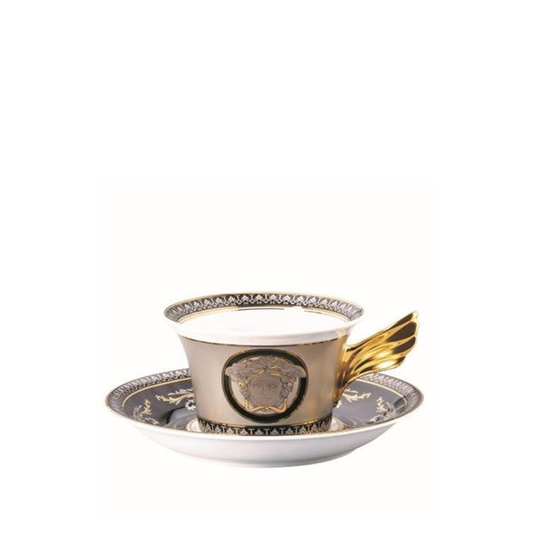 чаша и чинийка за чай Versace Medusa Silver