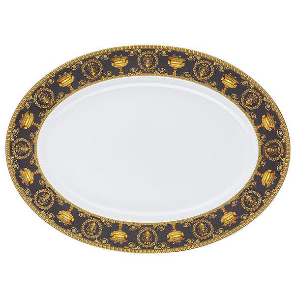 плато Versace Baroque Nero Platter 40