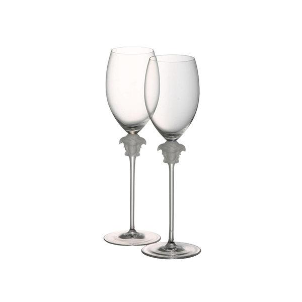 к-т чаши за бяло вино Versace Medusa Lumiere white wine