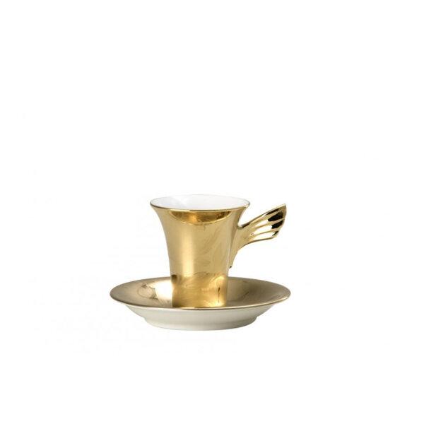 чаша и чинийка за еспресо Versace Vanity la dorée