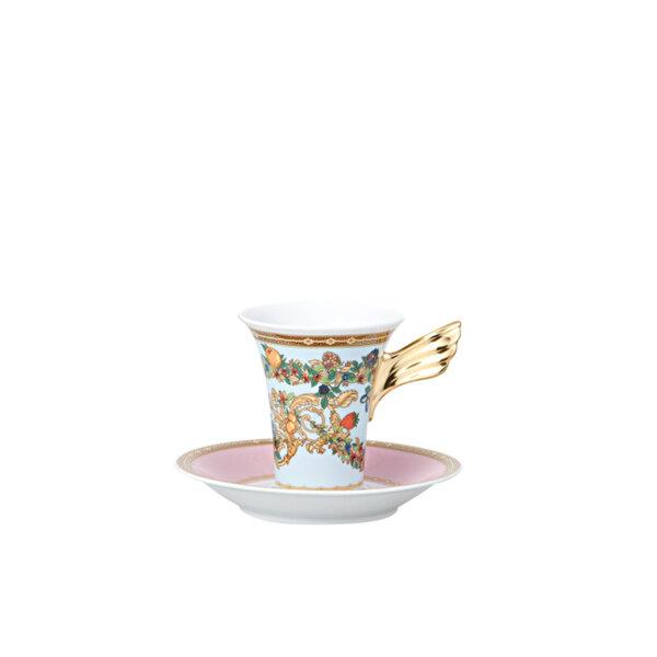 чаша и чинийка за еспресо Versace Ikarus Le jardin espresso