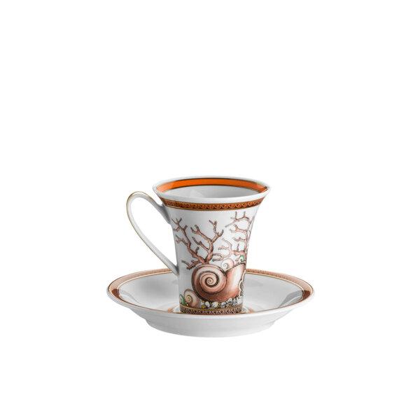 чаша за еспресо Versace Étoiles de la Mer with espresso