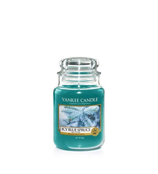 свещ голям буркан Yankee Candle Icy Blue Spruce