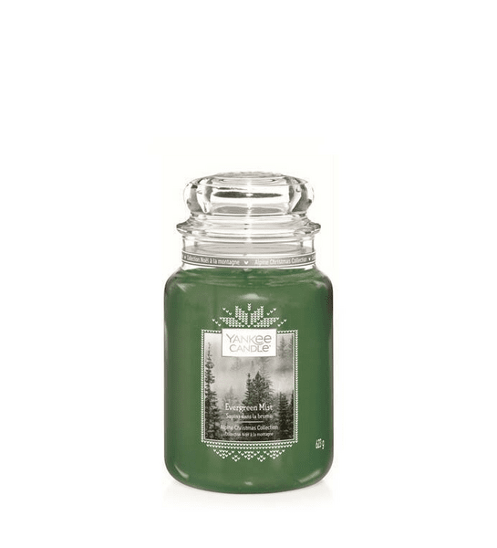 Свещ голям буркан Yankee Candle Evergreen Mist
