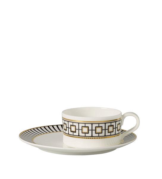 чаша и чинийка за чай Villeroy & Boch Metro Chic