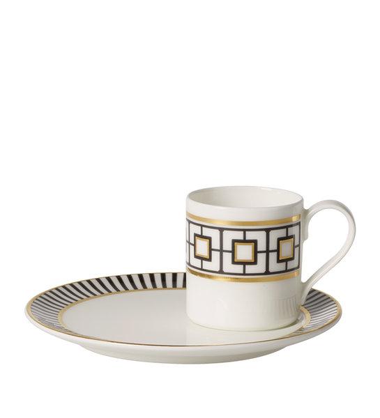 чаша и чинийка за еспресо Villeroy & Boch Metro Chic