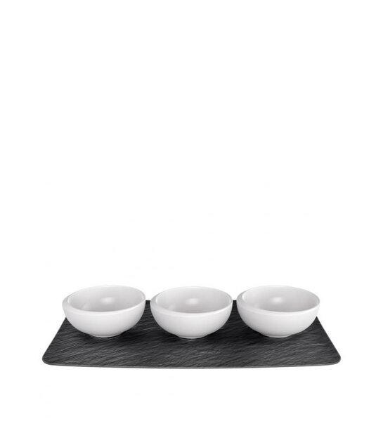 КОМПЛЕКТ КУПИЧКИ И ОСНОВА Villeroy & Boch, NewMoon dip bowl set