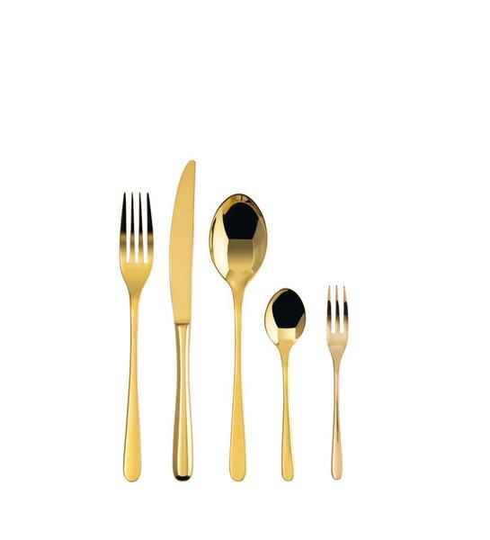 Комплект прибори за хранене Sambonet TASTE PVD GOLD 60 части