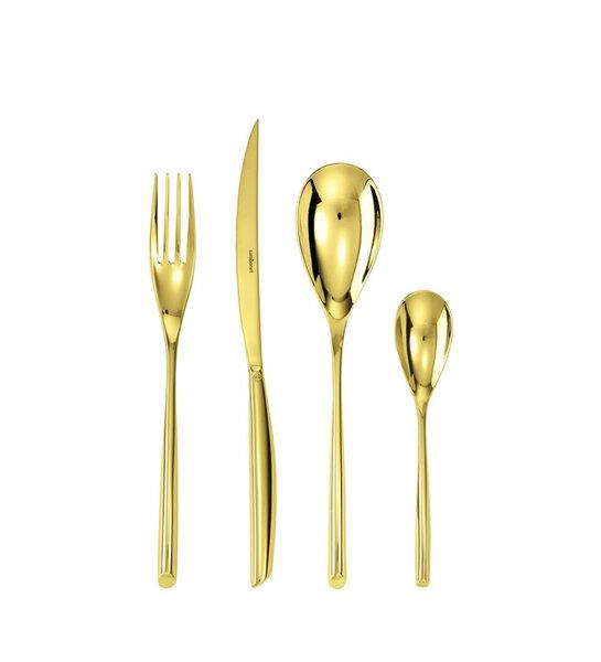 Комплект прибори за хранене Sambonet Bamboo gold
