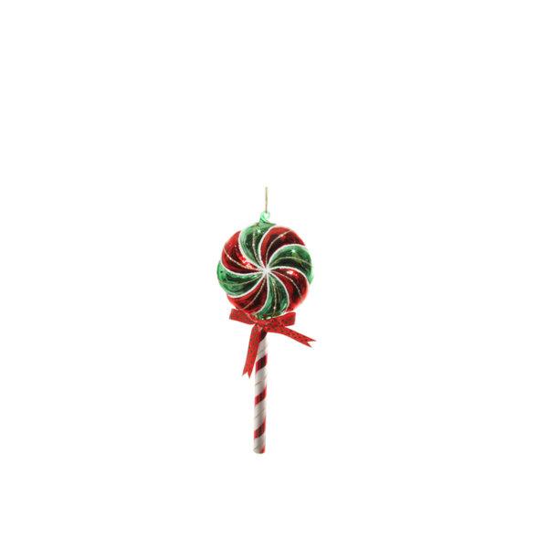 ДЕКОРАТИВНА БЛИЗАЛКА ЗА ЕЛХА Shishi LOLLY POP RED-GREEN 20 CM