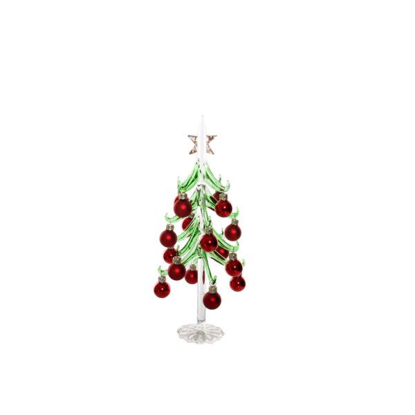 СТЪКЛЕНА КОЛЕДНА ЕЛХА ЗЕЛ/ЧЕРВ Shishi GLASS TREE BALL