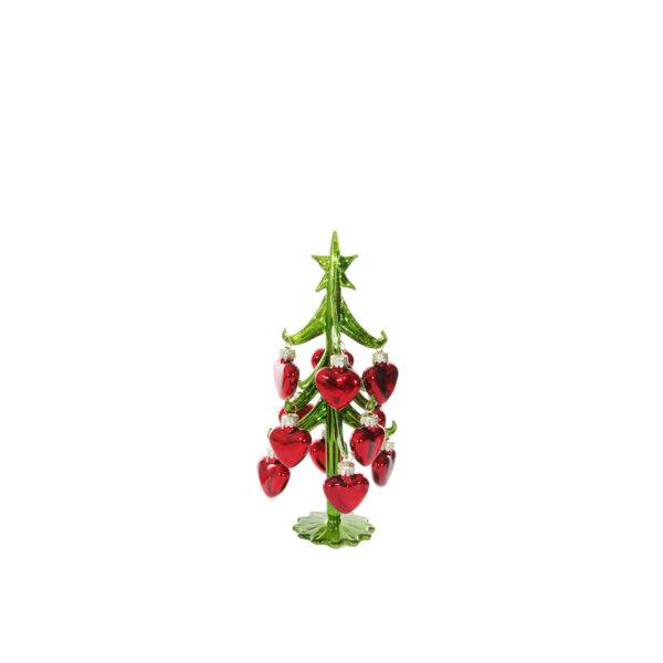 СТЪКЛЕНА КОЛЕДНА ЕЛХА СЪРЦА Shishi GLASS TREE BALL