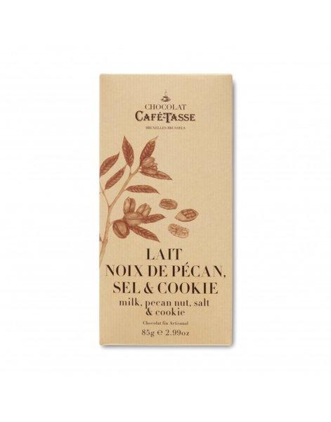Café-Tasse белгийски шоколад, млечен с пекан и бисквити